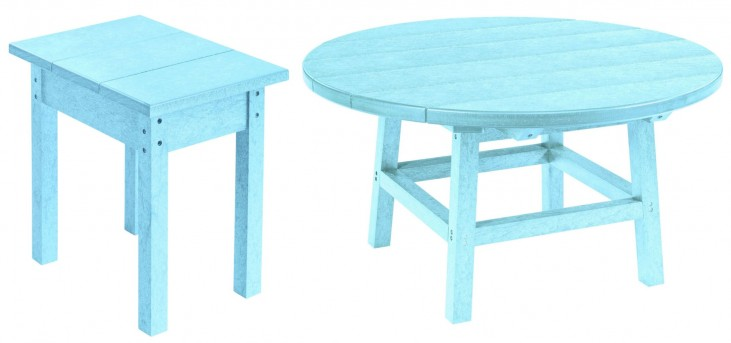 "Generations Aqua 37"" Round Occasional Table Set"