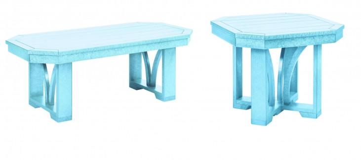 "St Tropez Aqua 42"" Occasional Table Set"