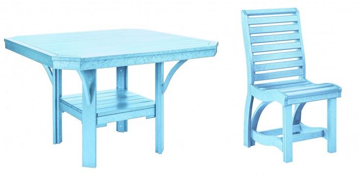 "St Tropez Aqua 45"" Square Dining Room Set"
