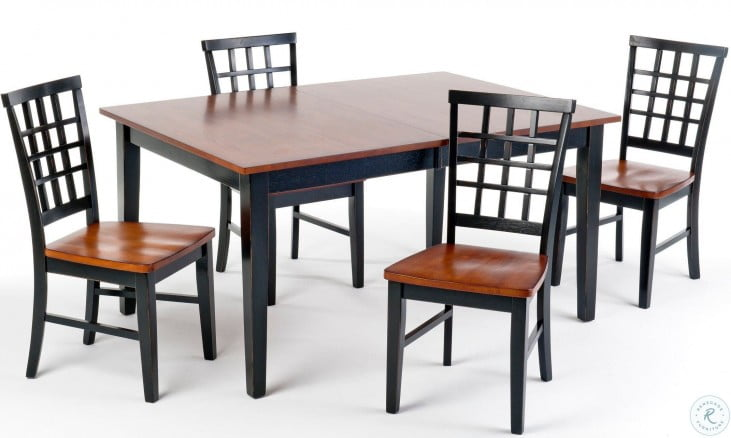 Arlington Black And Java Extendable Dining Table From Intercon Coleman Furniture