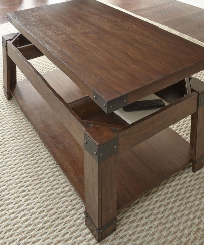 Arusha Medium Cherry Lift Top Castered Cocktail Table