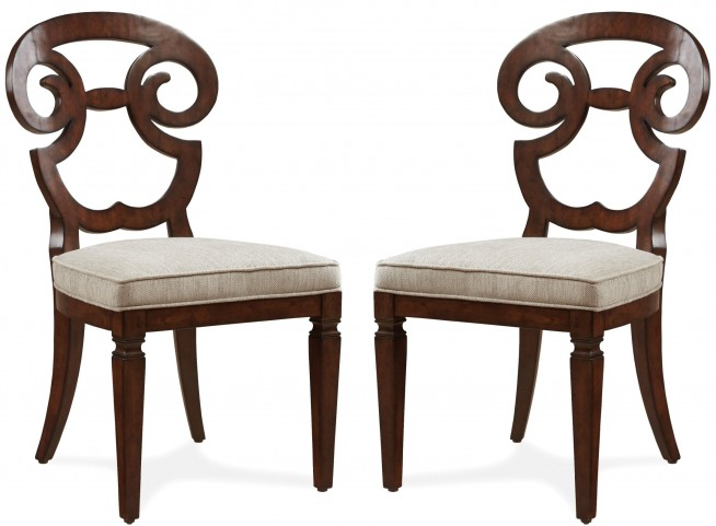 The Foundry Cafe Selway Dark Oak Side Chair Set of 2