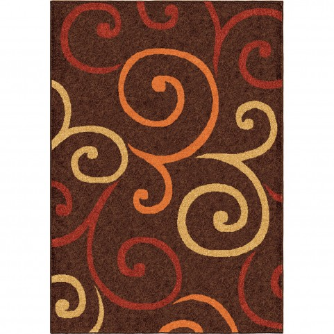 Semi Swirls Brown Medium Rug