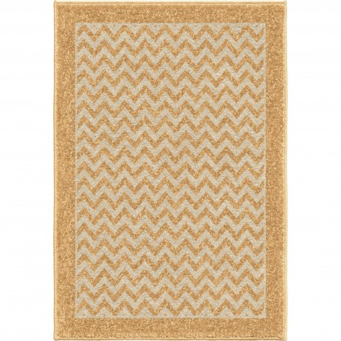 Sunny Day Stripe Gold Small Rug