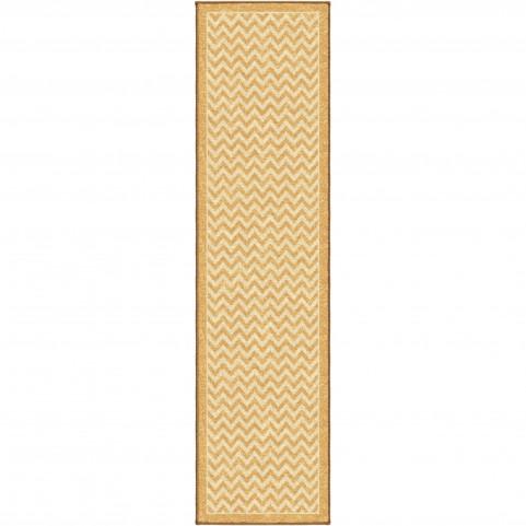 Sunny Day Stripe Gold Runner Rug