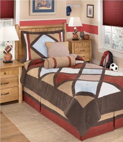 Academy Multi 5 Pcs Twin Bedding Set