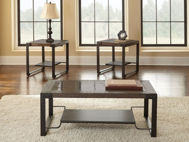 Oasis Metal Base Occasional Table Set
