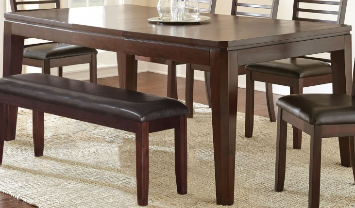 Allison Espresso Extendable Rectangular Dining Table