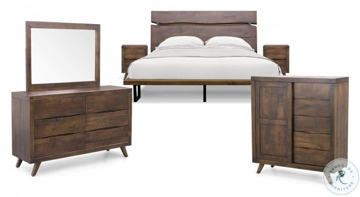 Pasco Distressed Cocoa King Platform Bed