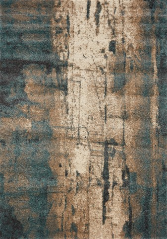 Ashbury Blue/Brown Watercolor Large Rug