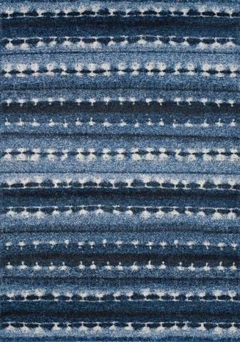Ashbury Blue and White Winter Blanket Large Rug