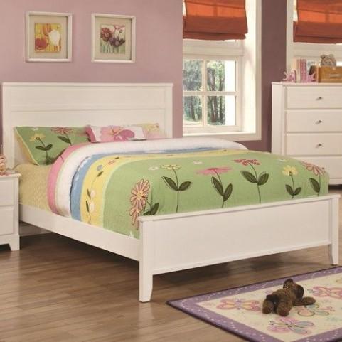 Ashton White Full Panel Bed