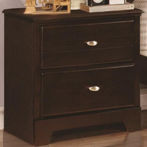 Ashton Cappuccino 2 Drawer Nightstand