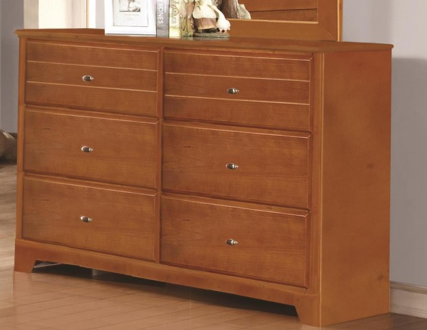 Ashton Honey 6 Drawer Dresser
