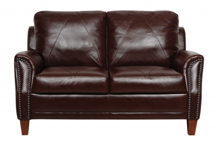 Austin Italian Leather Loveseat