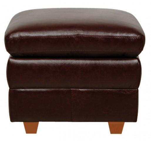 Austin Italian Leather Storage Ottoman