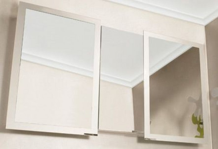 "Axara 51"" Anodized Mirror Cabinet"