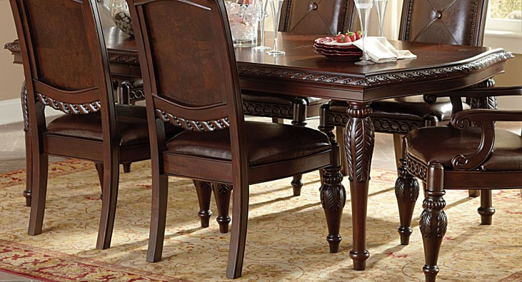 Antoinette Warm Brown Extendable Rectangular Dining Table