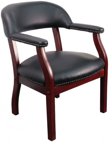 1000161 Black Vinyl Conference Chair