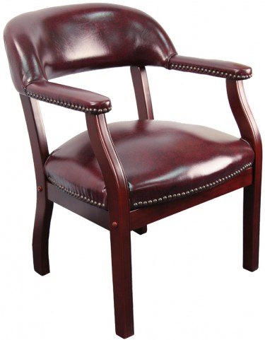 Oxblood Vinyl Conference Chair