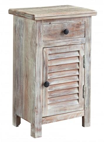 Charlowe White Wash Door Nightstand