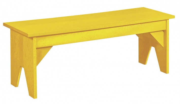 Generations Yellow Lifestyle Outdoor Bench