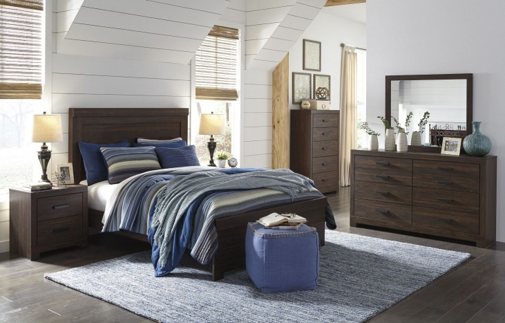 Arkaline Brown Panel Bedroom Set