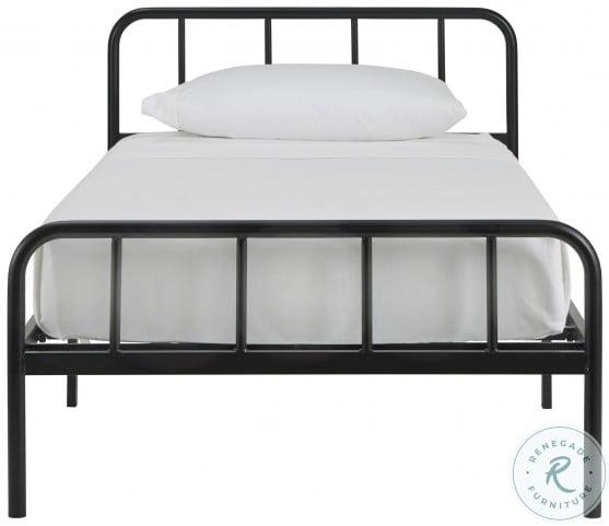 Trentlore Black Twin Platform Bed