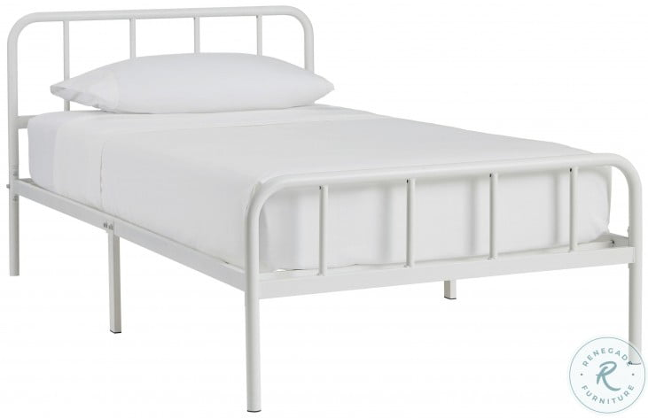 Trentlore White Twin Platform Bed