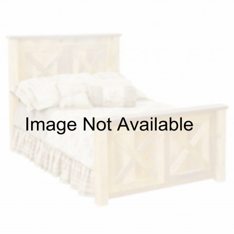 Barnwood Full Barndoor Platform Bed