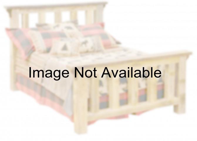 Barnwood Twin Post Platform Bed