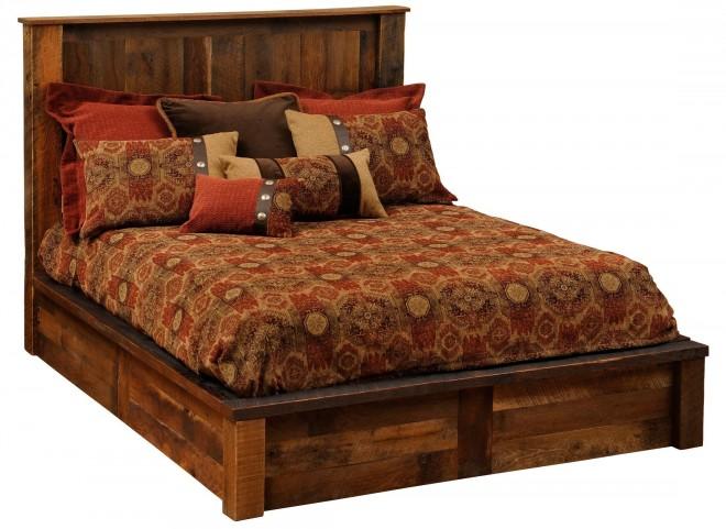 Barnwood Twin Platform Bed
