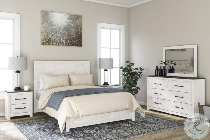 Gerridan White And Gray Panel Bedroom Set