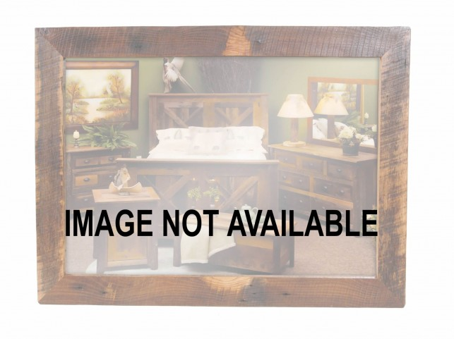 """Barnwood 48"""" Mirror Without Glass"""