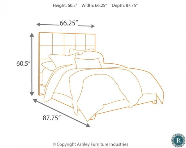 """Contemporary Queen Upholstered Panel Bed With Chime 12"""" Hybrid Ultra Plush Bed In A Box Mattress"""