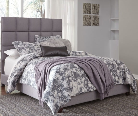 Contemporary Queen Upholstered Panel Bed