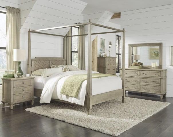 Coronado Flax Poster Canopy Bedroom Set From Progressive Furniture Coleman Furniture
