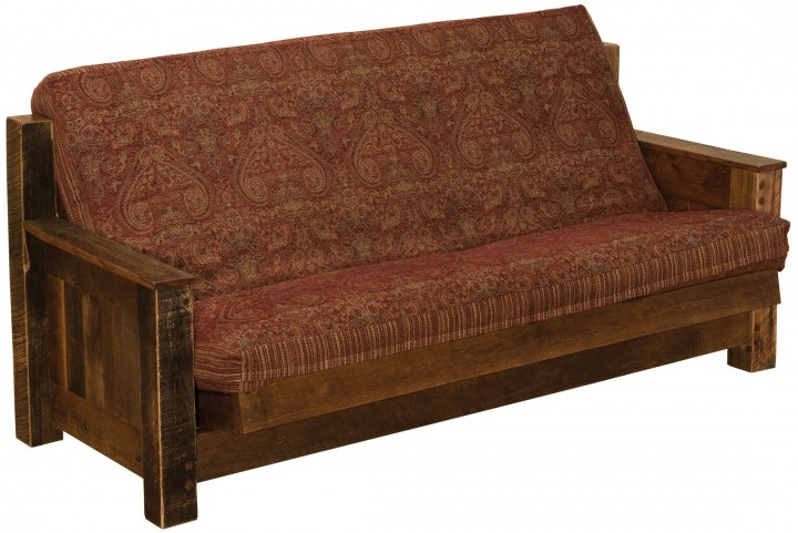 "Barnwood Futon With 8"" Inner-Spring Mattress"