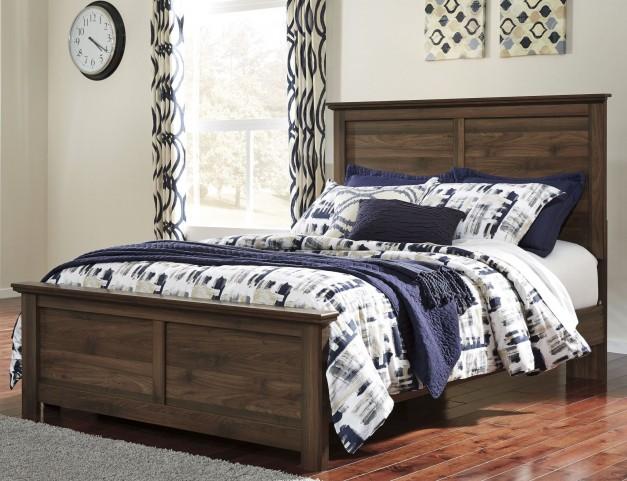 Burminson Brown Queen Panel Bed