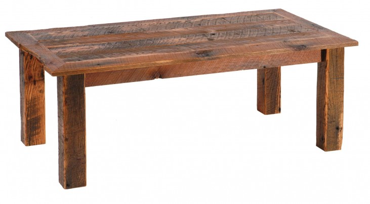"Barnwood 20""Open Coffee Table"
