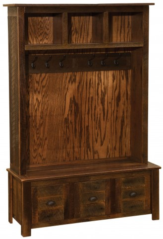 Barnwood Entry Locker Unit With Barnwood Legs