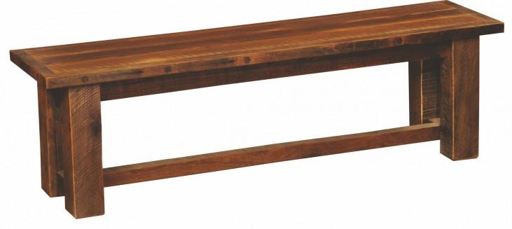 "Barnwood 48"" Antique Oak Top Bench"
