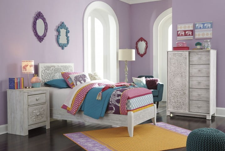 Paxberry Whitewash Youth Panel Bedroom Set From Ashley
