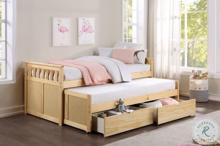 Bartly Natural Pine Youth Storage Bedroom Set
