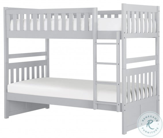 Orion Grey Twin Over Bunk Bed From Homelegance Homegallerystore Com B2063 1