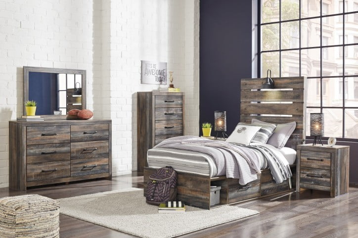 Drystan Multi Youth Panel Bedroom Set With Double Underbed Storage