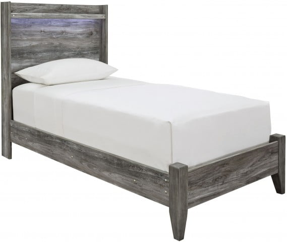 Baystorm Blue Twin Panel Bed
