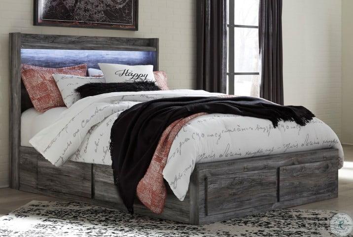 Baystorm Gray Platform Double Underbed Storage Bedroom Set