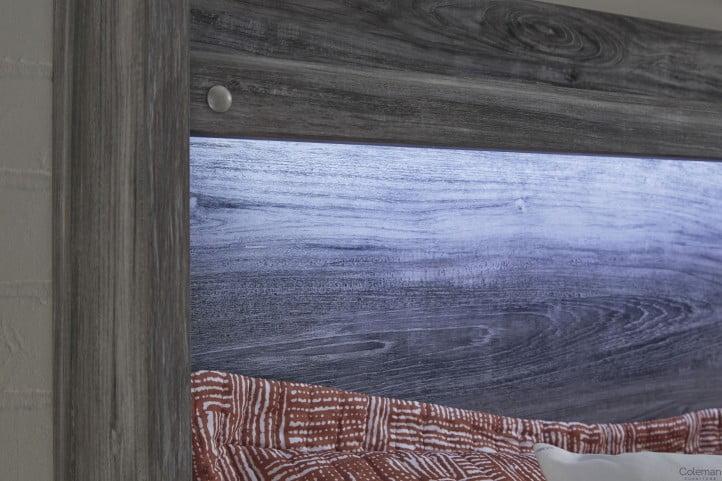 Baystorm Gray King Storage Panel Bed