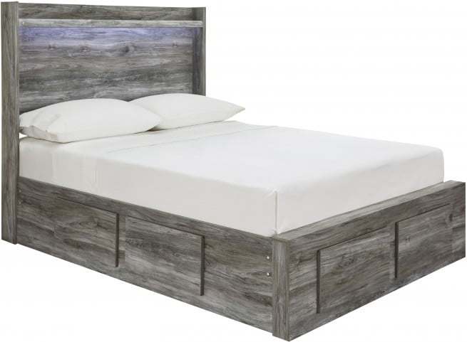 Baystorm Gray Full Double Underbed Storage Panel Bed